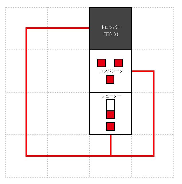 マインクラフト・回路模型1